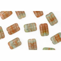 Czech Hurricane Glass Loose Rectangles 12/8mm Marshlands (25PK)