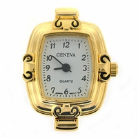 Gold Tone Classic Rectangle Watch Face