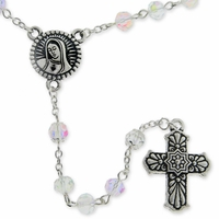 Our Lady of Guadalupe Crystal AB Rosary Kit