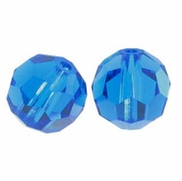 Capri Blue Swarovski 5000 6mm Crystal Beads (10PK)