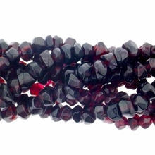 Garnet  3x4mm Faceted Rondelle Beads 14 inch Strand