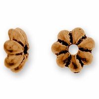 Antique Copper 5mm Petal Bead Cap