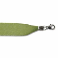 Olive 17 Inch Ribbon Necklace