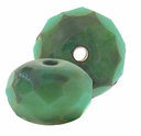 Gemstone Donut 9/6mm  Turquoise/Picasso (12PK)