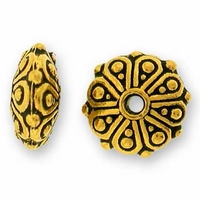 Antique Gold Oasis Rondelle Bead
