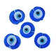 Evil Eye 15mm Flat Disc Lampwork Beads (5PK)