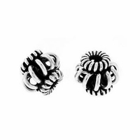 7 x 8mm Open Coil Sterling Silver Bead (1PC)