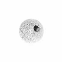 5mm Sterling Silver Stardust Beads w/1.5 hole (10PK)