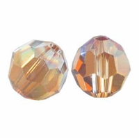 Crystal Copper 8mm Swarovski 5000 Round Crystal Beads (1PC)