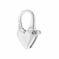 14mm Sterling Silver Heart Lobster Clasp (1PC)