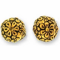 Antique Gold Flower Bead