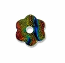 Dichroic 18x18mm Flower Pendant (1PC)