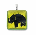 Dichroic 26mm Elephant Square Pendant (1PC)