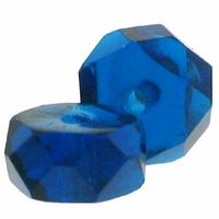 3 x 6mm Capri Blue Czech Fire Polished Rondelles (25PK)