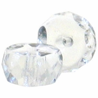 3 x 6mm Crystal Czech  Fire Polished Rondelles  (25PK)