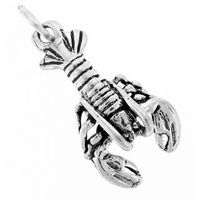 Lobster Sterling Silver Charm