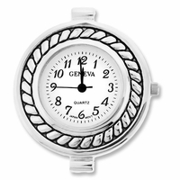 Silver Jumbo Decorative Round Watch Face