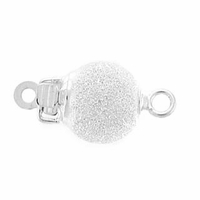 Sterling Silver 7mm Stardust Bead Clasp