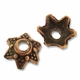 Antiqued Copper 5mm Dotted Star Bead Caps (10PK)