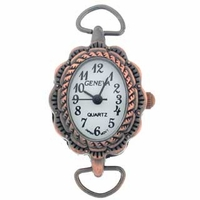 Antique Copper Loop Decorative Oval Watch Face