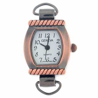 Antique Copper Loop Rope Bar Watch Face