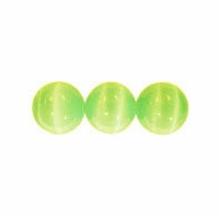 Lt. Green 4mm Cat Eye Beads 16 Inch Strand