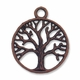 Antiqued Copper Tree of Life in Circle Charm Pendant (10PK)