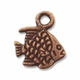 Antiqued Copper Small 10mm Fish Charms(1PC)