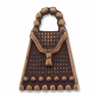 Antiqued Copper Beaded 16x11mm Handbag Charm (1PC)