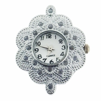 Faux Rhinestone Flower Watchface for Beading