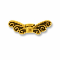 Antique Gold Fairy Wings Bead
