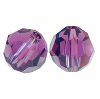 Amethyst Swarovski 5000 6mm Crystal Beads (10PK)