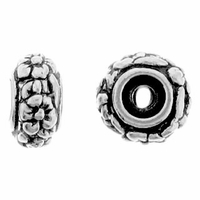 Antique Rhodium Meadow Bead