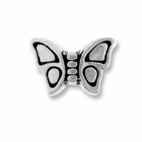 Antique Rhodium Small Butterfly Bead