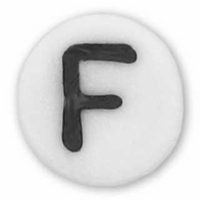 White Glass Czech Letter F (10PK)