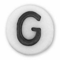 White Glass Czech Letter G (10PK)
