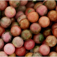 Rhodonite 6mm Round Beads 15.5 inch Strand
