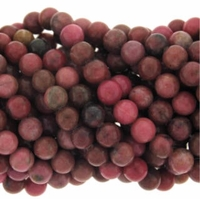 Rhodonite 8mm Round Beads 16 inch Strand