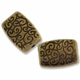 Antiqued Brass Scroll Pattern 14x10mm Rectangular Beads (10PK)