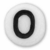 White Glass Czech Letter O (10PK)