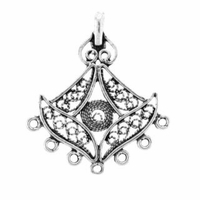 Sterling Silver Fancy 7 Drop Chandelier (1PC)
