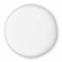 White Glass Czech Blank Bead (10PK)