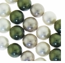 Multi Color 013 12mm South Sea Pearls 16-Inch Strand