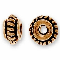 Antique Copper 5mm Coiled Bead