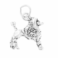 Poodle Sterling Silver Charm