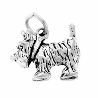 Scottie Sterling Silver Charm