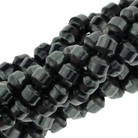 Magnetic Hematite 4mm Double Drum Beads 16 inch Strand