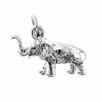 Elephant Sterling Silver Charm