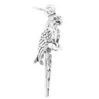 Parrot Sterling Silver Charm