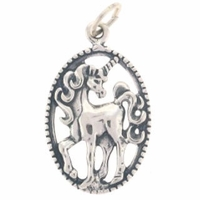 Unicorn Sterling Silver Charm (1PC)